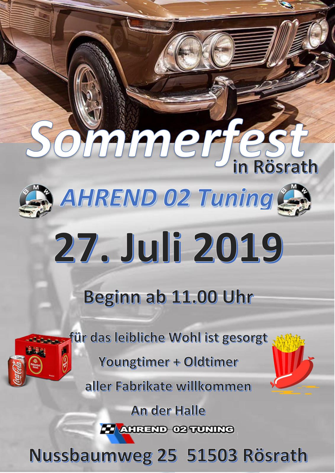 Ahrend 02 Tuning Sommerfest 2019 Rösrath BMW02 Bmw 2002 BMW Klassiker Oldtimer Youngtimer Classic cars classiccars